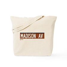 Madison Avenue in NY Tote Bag