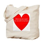 When we are apart Tote Bag