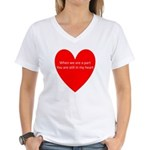 When we are apart Women's V-Neck T-Shirt