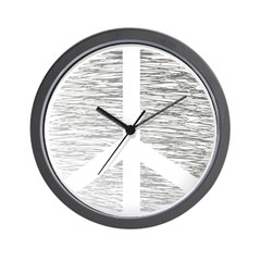Scribbled Peace Sign Wall Clock