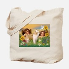 Angels/Puff Crested Tote Bag