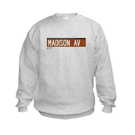 Madison Avenue in NY Kids Sweatshirt