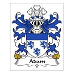 Adam Family Crest  Small Poster