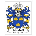 Abrahall Family Crest Small Poster