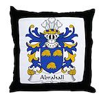 Abrahall Family Crest Throw Pillow