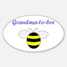 GRANDMA-TO-BEE Oval Decal