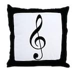 Trebl Clef Throw Pillow