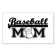 Baseball mom silver Rectangle Decal