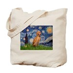 Starry Night / Vizsla Tote Bag