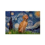Starry Night / Vizsla Rectangle Magnet