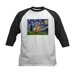 Starry Night / Vizsla Kids Baseball Jersey