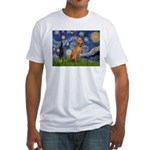 Starry Night / Vizsla Fitted T-Shirt