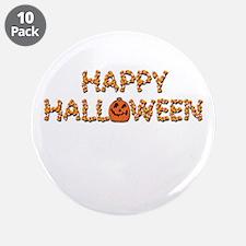 """Halloween Pumpkin & Candy Corn 3.5"""" Button (10 pac"""