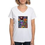 Astroids Women's V-Neck T-Shirt