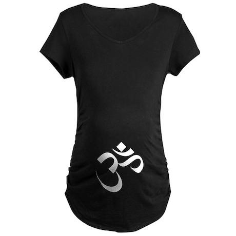 Om / Aum Maternity Dark T-Shirt