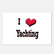 I Love (Heart) Yachting Postcards (Package of 8)