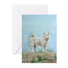 White Akita Greeting Cards (Pk of 10)