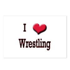 I Love (Heart) Wrestling Postcards (Package of 8)