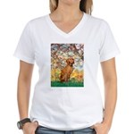 Spring / Vizsla Women's V-Neck T-Shirt
