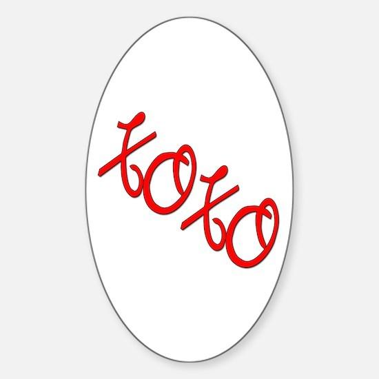 XOXO Oval Decal