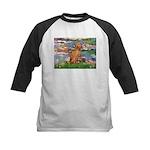 Lilies / Vizsla Kids Baseball Jersey