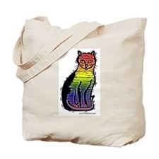 Rainbow Gay Pride Cat Tote Bag