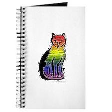 Rainbow Gay Pride Cat Journal