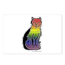 Rainbow Gay Pride Cat Postcards (Package of 8)