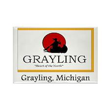 Grayling MI Flag Rectangle Magnet (10 pack)