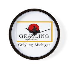 Grayling MI Flag Wall Clock