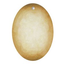 Tan Easter Egg Oval Ornament