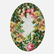 Lots of Flowers Easter Oval Ornament