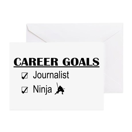 Journalist Career Goals Greeting Cards (Pk of 10)