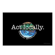 Act Locally Think Globally Postcards (Package of 8