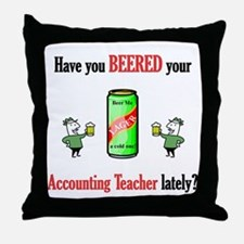 Accounting Teacher Throw Pillow