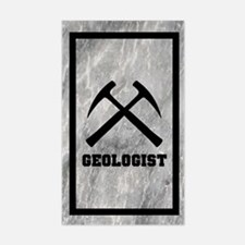 Geologist Sticker With Marble Background