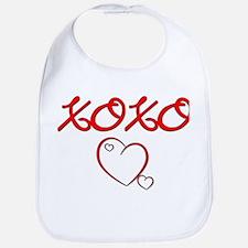 XOXO Heart Bib