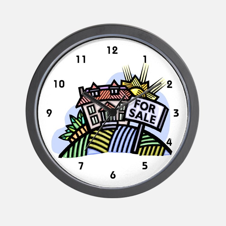 Real Estate Wall Clock