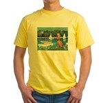 Sailboats / Vizsla Yellow T-Shirt