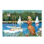 Sailboats / Vizsla Postcards (Package of 8)