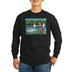Sailboats / Vizsla Long Sleeve Dark T-Shirt