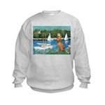 Sailboats / Vizsla Kids Sweatshirt