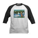Sailboats / Vizsla Kids Baseball Jersey