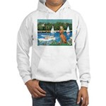 Sailboats / Vizsla Hooded Sweatshirt