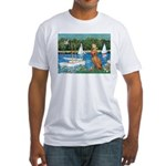 Sailboats / Vizsla Fitted T-Shirt