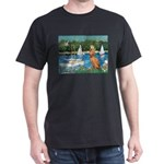 Sailboats / Vizsla Dark T-Shirt