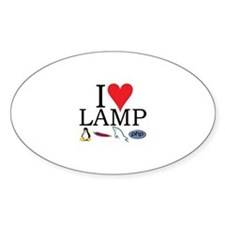 I Love LAMP Oval Decal