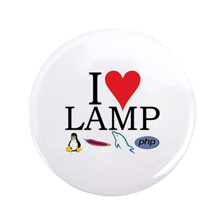 "I Love LAMP 3.5"" Button (100 pack)"