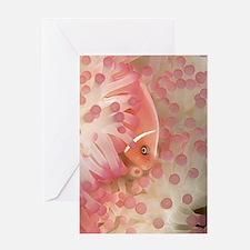 Pink Anemone Fish Greeting Card