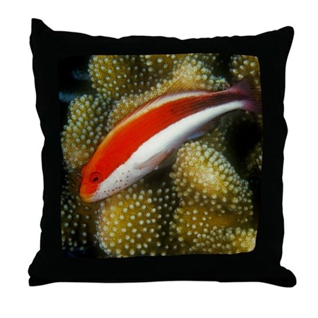 Freckled Hawk Fish Throw Pillow